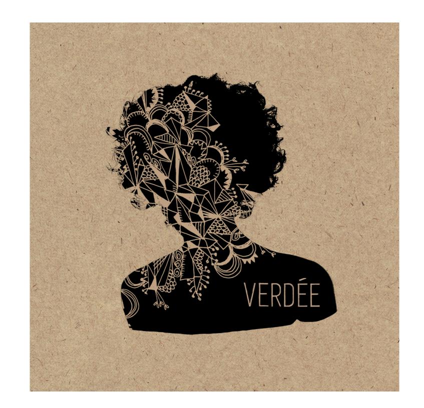 visuel CD 3 titres Verdée Pop Oragnique Chanson
